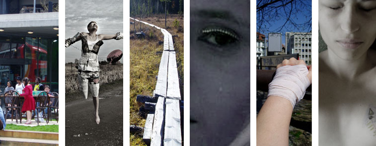 Not Knowing workshop promotional collage - from images by Rajni Shah, Helena Suarez and Manuel Vason with SPILL festival