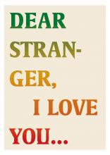 Dear Stranger, I love you book cover