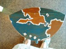 one of the remaining stools, which were sent out around the world