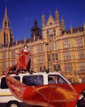 Queen Elizabeth outside Parliament - image by Rajni Shah, Manuel Vason, and Lucille Acevedo-Jones (2007)