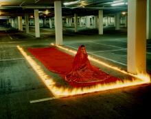 Indian Bride in parking lot - image by Rajni Shah, Manuel Vason, and Lucille Acevedo-Jones (2007)